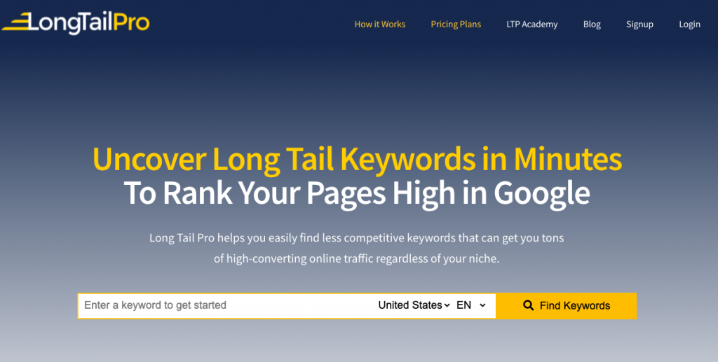 LongTail Pro best longtail keyword research tool